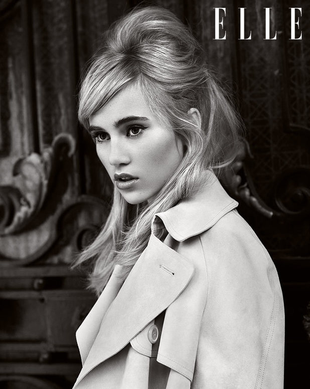 Suki Waterhouse photoshoot for Elle magazine