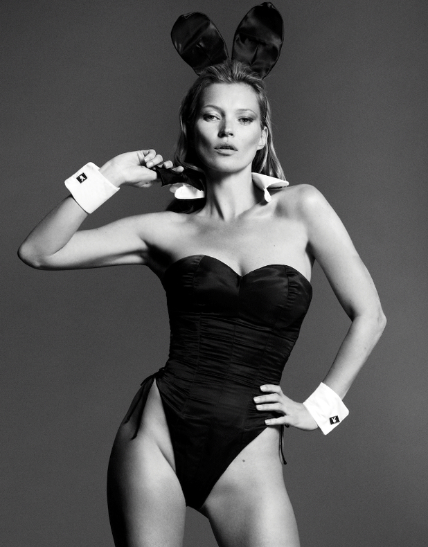 Kate Moss in a Bunny Suit for Playboy