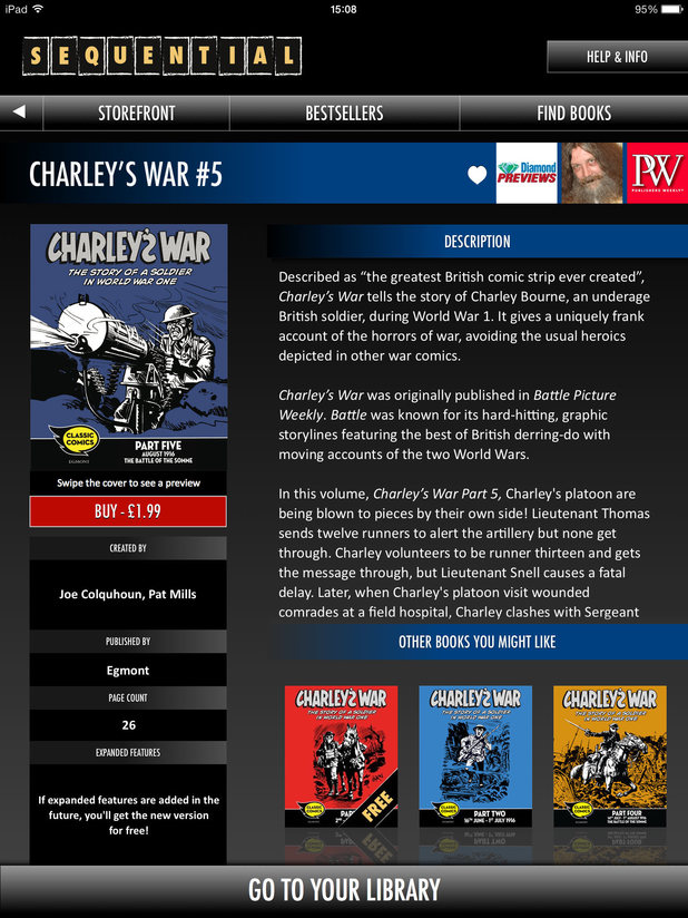 Pat Mills's Charley's War on Sequential