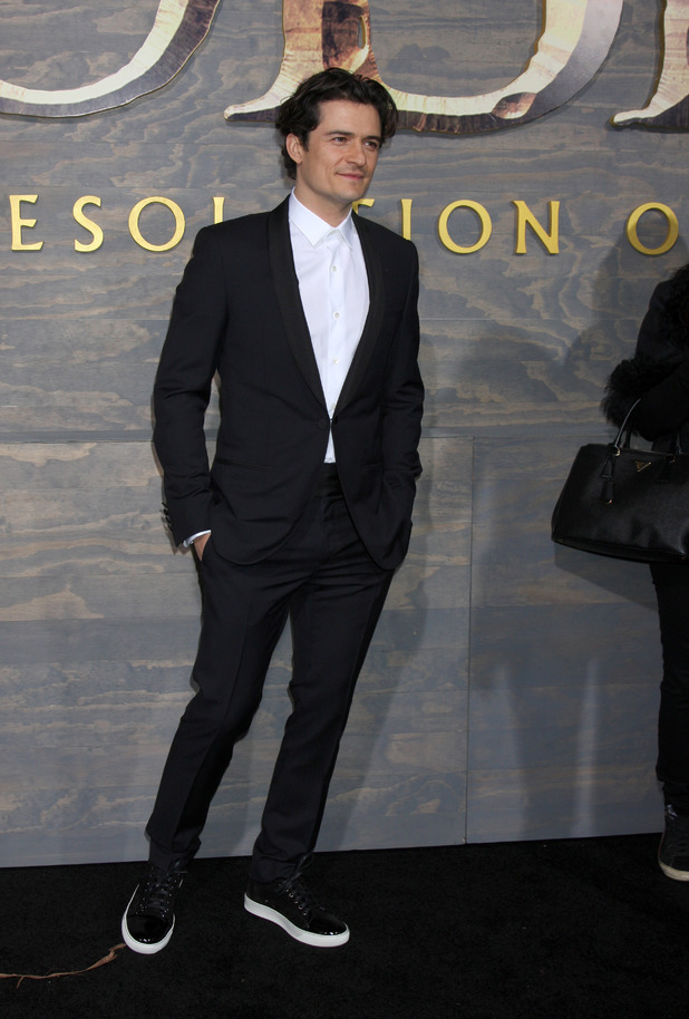 Orlando Bloom arrives at the Los Angeles premiere of