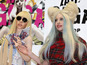 Lady Gaga meets with life-size dolls