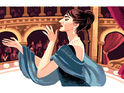 The graphic marks the 90th anniversary of the late soprano's birth.