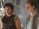 Jack Donnelly as Jason and Robert Emms as Pythagoras in Atlantis episode 10: 'The Price of Hope'