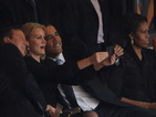 Barack Obama, David Cameron take selfie at Mandela memorial