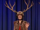 Downton Abbey's Michelle Dockery plays Antler Toss - watch video