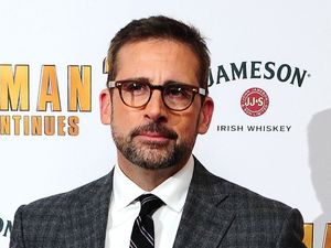 Steve Carell attending the premiere of Anchorman 2: The Legend Continues, at the Vue Cinema in Leicester Square, London