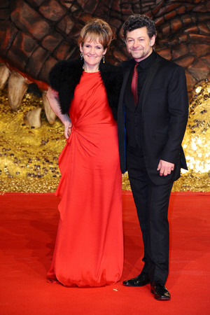 Lorraine Ashbourne, Andy Serkis, 'The Hobbit: The Desolation of Smaug' film premiere, Berlin, Germany - 09 Dec 2013