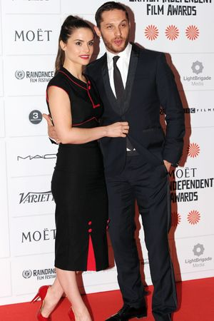 Charlotte Riley, Tom Hardy The Moet British Independent Film Awards 2013, London, Britain