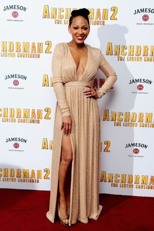 Meagan Good attending the premiere of Anchorman 2: The Legend Continues, at the Vue Cinema in Leicester Square, London