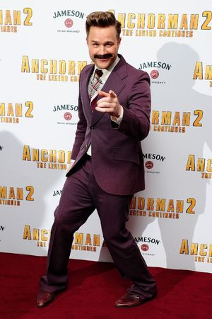 Olly Murs attending the premiere of Anchorman 2: The Legend Continues, at the Vue Cinema in Leicester Square, London