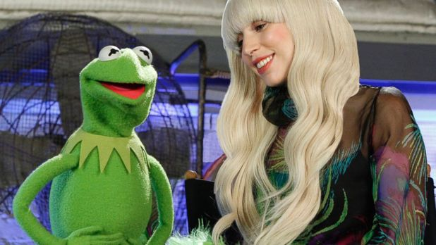 Lady Gaga and the Muppets.