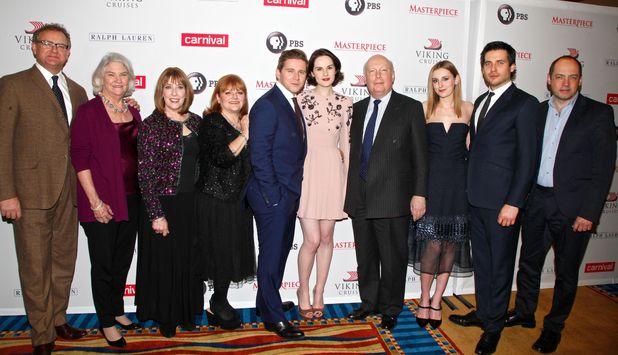 'Downton Abbey' season four cast photo call, New York, America - 10 Dec 2013 Cast of Downton Abbey