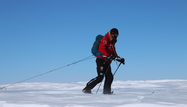 Prince Harry during the Walking with the Wounded South Pole Allied Challenge