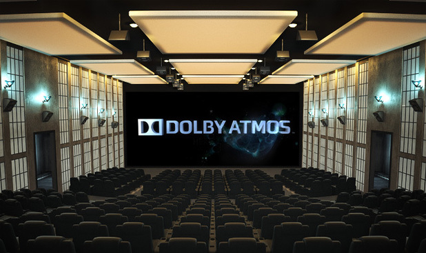 A cinema equipped with Dolby's Atmos sound tech