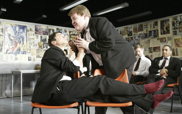Dominic Cooper and James Corden in 'The History Boys'