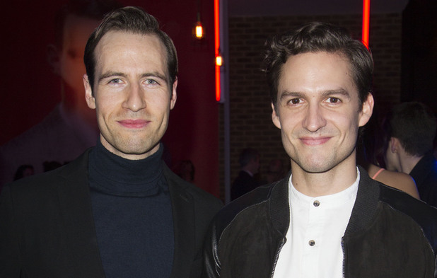 'American Psycho' play press night after party, London, Britain - 12 Dec 2013 Eugene Mccoy and Ben Aldridge