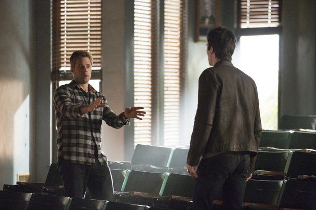 Shaun Sipos as Aaron and Ian Somerhalder as Damon in The Vampire Diaries: 'Fifty Shades of Grayson'