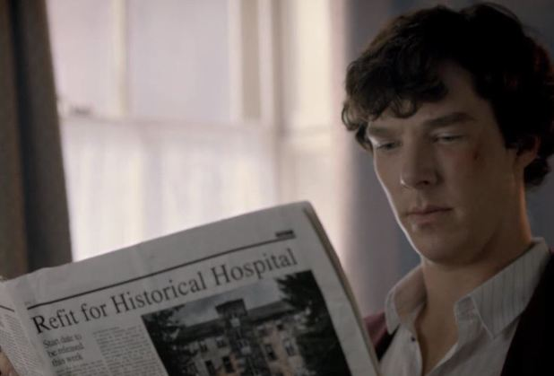Benedict Cumberbatch as Sherlock in 'A Scandal in Belgravia'