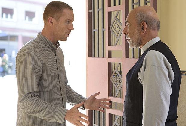 Damian Lewis as Nick Brody and Kaghat Mohamed Azalaarab as Nassrin's Assistant in Homeland: 'Big Man in Tehran'