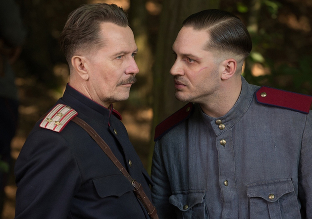 Gary Oldman as Timur and Tom Hardy as Leo in Child 44