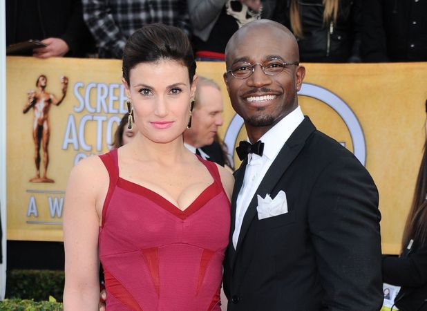 Idina Menzel and Taye Diggs at the 19th Annual Screen Actors Guild Awards