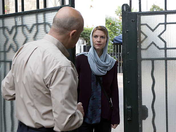 David Diaan as Masud and Claire Danes as Carrie Mathison in Homeland: 'Big Man in Tehran'