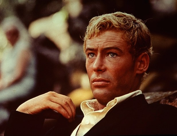 Peter O'Toole on set in 1965