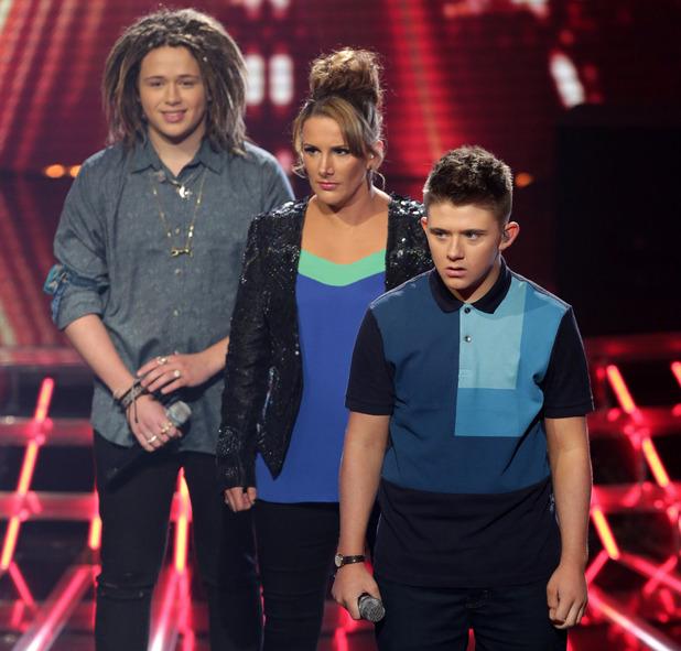 The X Factor: Luke Friend, Sam Bailey and Nicholas McDonald