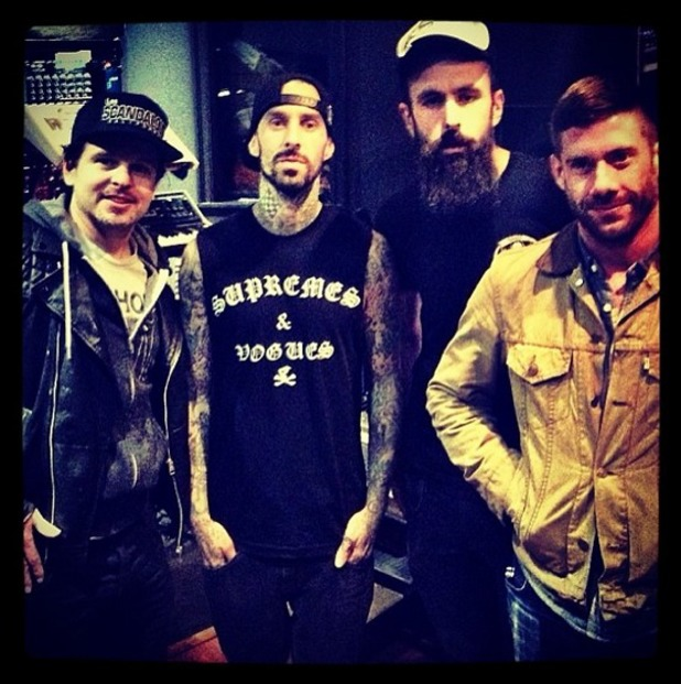 Danny Lohner, Travis Barker, Scroobius Pip and Wes Borland