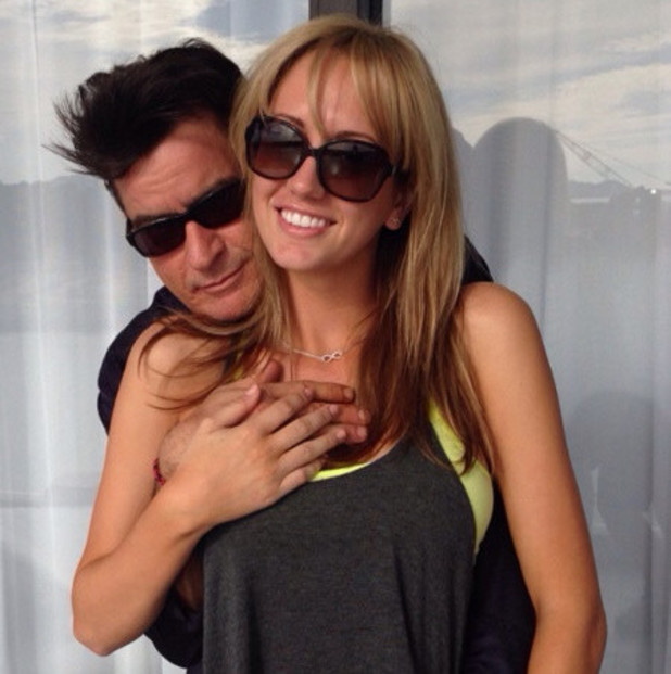 Charlie Sheen with new girlfriend Brett Rossi