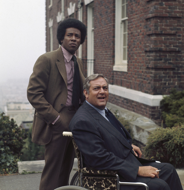 Don Mitchell and Raymond Burr in 'Ironside'