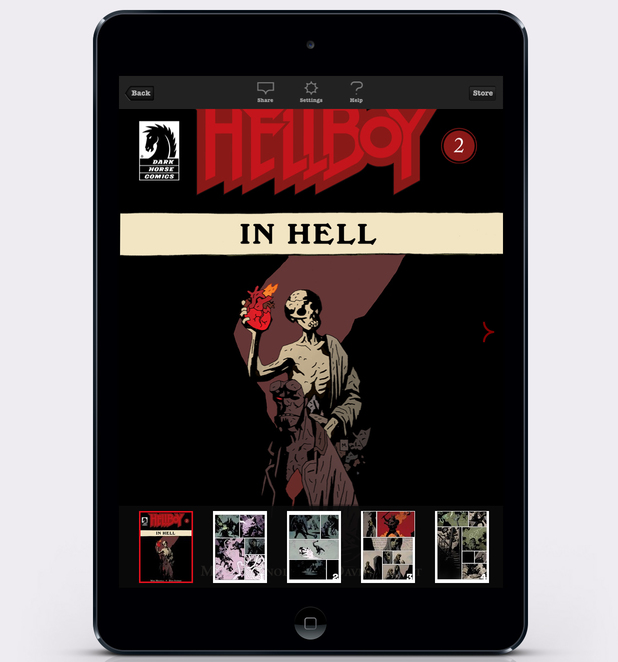 Hellboy in Hell on Madefire