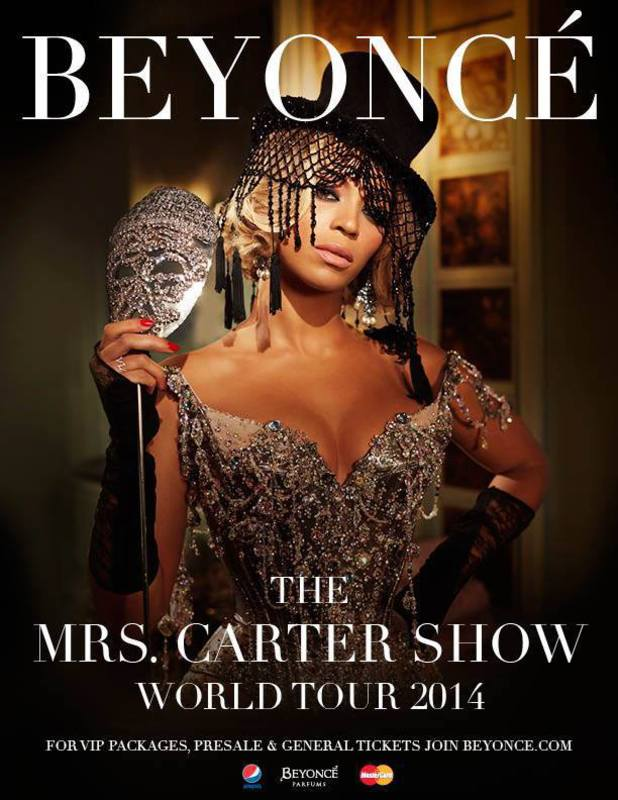 Beyoncé: The Mrs Carter Show World Tour 2014 poster