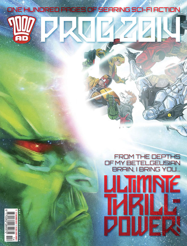 '2000 AD Prog Report 2014' cover artwork