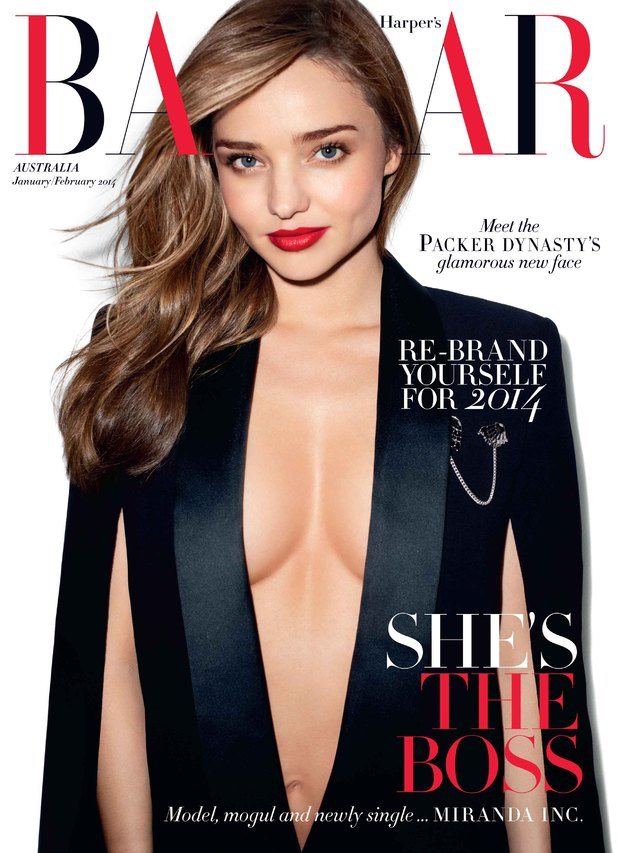 Miranda Kerr on the cover of Harper's Bazaar Jan/Feb 2014 issue