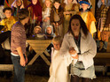 Kylie (Paula Lane) causes a scene when she turns up drunk at Max's nativity play.