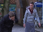 Hollyoaks: John Paul and Ste fight in the village - spoiler pictures