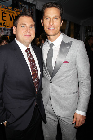 'The Wolf of Wall Street' film premiere, New York, America - 17 Dec 2013 Jonah Hill and Matthew McConaughey