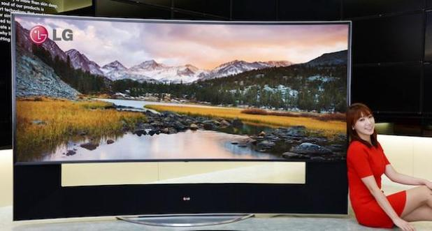 LG's 105-inch curved 21:9 LED TV set