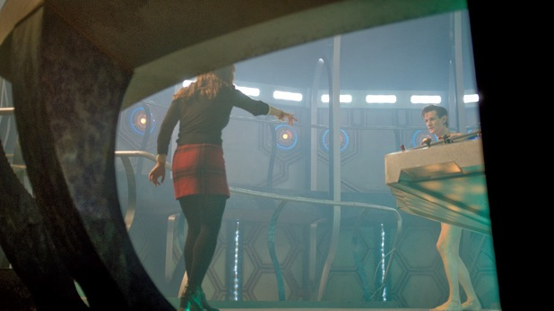 Matt Smith and Jenna Coleman in Doctor Who Christmas special