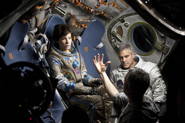 Behind the scenes on the set of Gravity