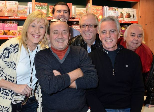 Brendan O'Carroll & the rest of the Mrs Brown's Boys cast at a signing for 'Mrs Brown's Family Handbook at Easons...