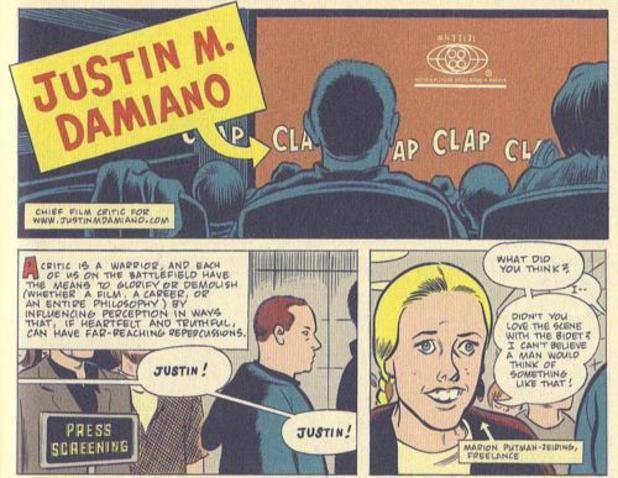 Daniel Clowes's Justin M Damiano