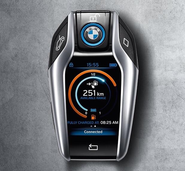 BMW i8 futuristic key fob