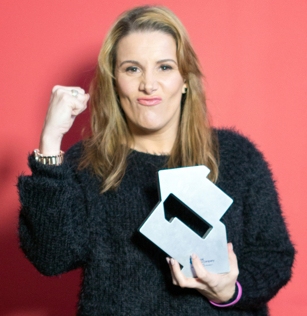 Sam Bailey with her Official Number 1 Award