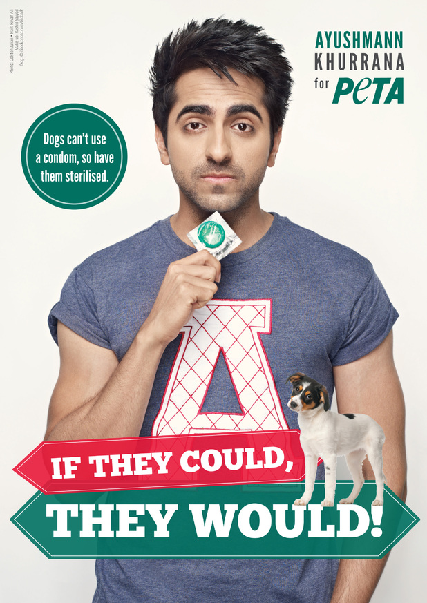 Ayushmann Khurana in PETA's poster campaign