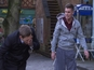 Hollyoaks pictures: John Paul, Ste fight