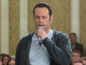 Vince Vaughn delivers intermittent laughs in his latest comedy offering.