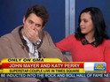 Mayer does interview with girlfriend Katy Perry but makes slip-up on live TV.