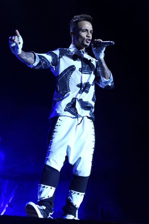 Aston Merrygold of JLS during their farewell concert at The O2 Arena, London